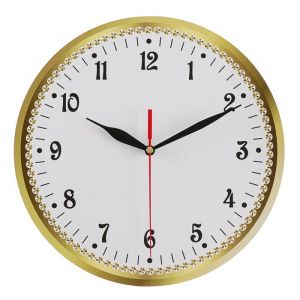 Часы настенные классика, круглые 24 см микс  3640629