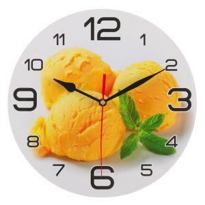 """Часы настенные, серия: Кухня, """"Мороженое с мятой"""", 24 см 3571426"""