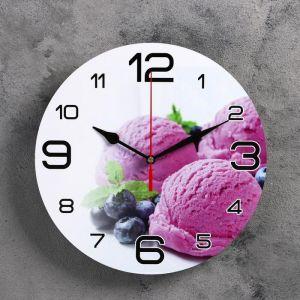 """Часы настенные, серия: Кухня, """"Черничное мороженое"""", 24  см, микс 3571450"""