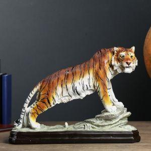 """Сувенир полистоун """"Тигр на скале"""" 33,5х43х14 см   4295708"""