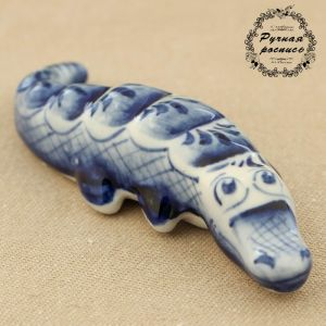 Сувенир «Крокодил», 10?2?2 см, гжель 2357951