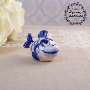Сувенир «Рыбка», 4 см, гжель   4491440