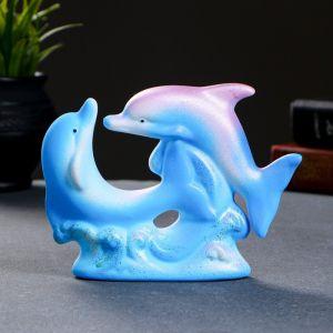 """Фигура """"Дельфины парные №2"""" 5 ? 16 ? 12 см МИКС 122 671049"""