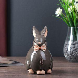 "Сувенир керамика ""Зайка-шарик с бантиком"" 15х10х8 см   4556568"