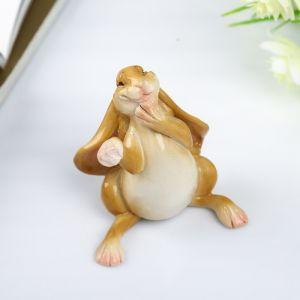 "Сувенир полистоун миниатюра ""Счастливый заяц"" 7х5,5х7 см   4128466"