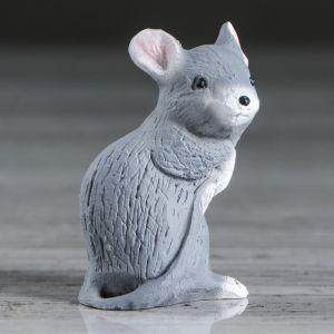 """Сувенир """"Мышка на задних лапках"""" серая, 6 см"""
