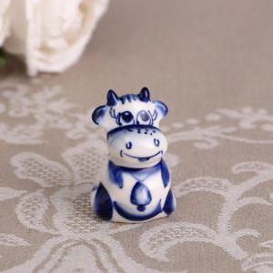 Сувенир «Борька», синий, 4,7 см, гжель 4883801