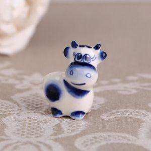 Сувенир «Пупс», синий, 3,8 см, гжель 4883803