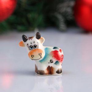 """Сувенир корова """"Алиса"""", 5,5 см, цветная гжель 4950587"""