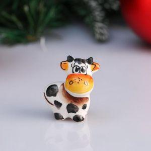 "Сувенир корова ""Ириска"", 4,1 см, цветная гжель 4950583"