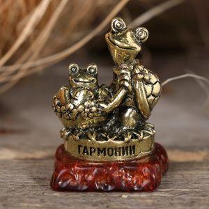 "Фигурка черепаха на камне ""Гармонии"", 3,5 х 2,8 х 2,2 см 2778130"