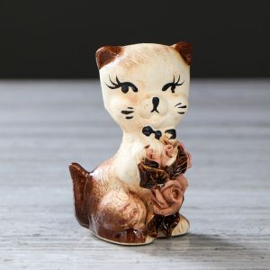 """Статуэтка """"Кошка малышка"""", лепка, 10 см, керамика"""