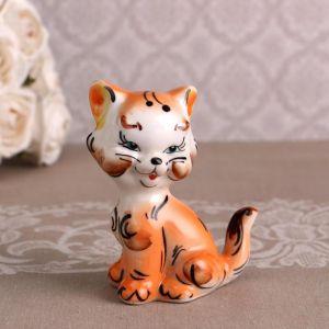 Сувенир «Котик», сидячий, хвост трубой, рыжий 4875504