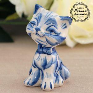 Сувенир «Кошка с бантом», кобальт 3442714