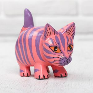 "Сувенир дерево ""Розовый котик"" 11х5х8,5 см 2630713"