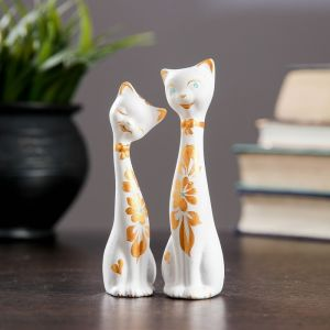 """Фигура """"Love Коты"""" мини набор 2шт белые 3,5 ? 3,5 ? 11,5 см 080 707385"""