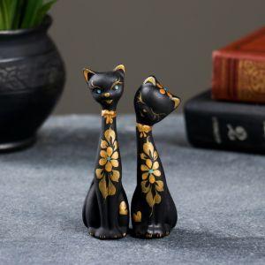 """Фигура """"Love Коты"""" мини набор 2шт черные 4 ? 4 ? 11 см 080 671066"""