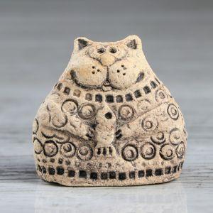 """Статуэта """"Домашний кот"""", под шамот, 6 см, микс"""