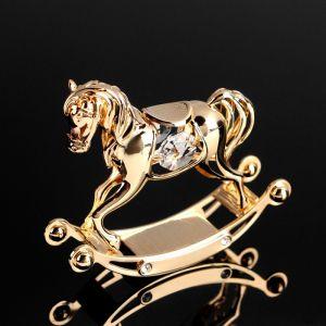 Сувенир «Лошадка», 7,5х8х2,5 см, с кристаллами Сваровски 4856052