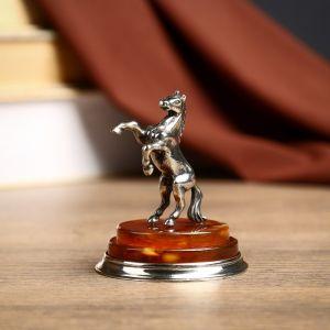 """Сувенир из бронзы и янтаря """"Вперед""""  6 см   4149190"""