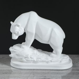 """Статуэтка """"Медведь"""" белый"""