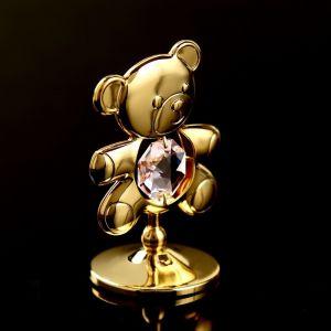 """Сувенир с кристаллами Сваровски """"Медвежонок Тедди"""" 5,5х3,7 см   4266142"""