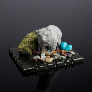 """Сувенир"""" Медведь стоящий"""", змеевик, мрамор 4010543"""