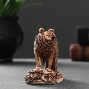 "Фигура ""Медведь идущий"" 6,7х8х4,5 см 1414589   4783481"
