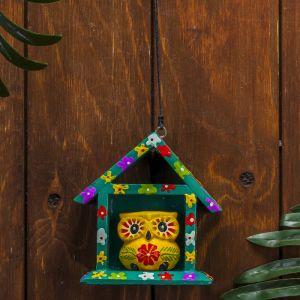 "Сувенир дерево ""Жёлтая сова в домике"" 11х5х11 см   3370638"