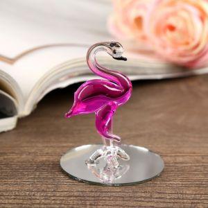 """Сувенир стекло на зеркале """"Фламинго""""  6,2х4х4 см   4283167"""