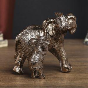 """Сувенир """"Слониха со слонёнком"""" 13х13х8,5 см 1789188"""