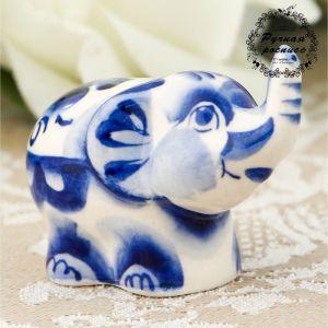 Сувенир «Слон», малый, гжель 2426601