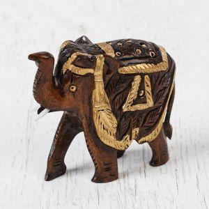 """Сувенир дерево """"Слон"""" 6,25х7х3,5 см 2359040"""