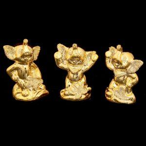 "Сувенир керамика ""Три золотых слоника"" набор 3 шт 7х4,7х2,7 см   2504750"