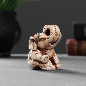 """Фигура """"Слон с розой"""" 6,5х4,5х4 см 1414596   4783480"""
