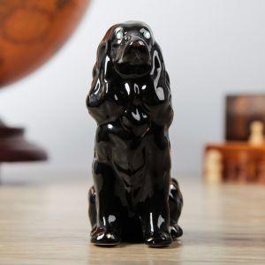 """Сувенир """"Собака Спаниель"""" чёрный, 12,5 см"""
