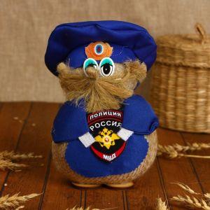 Оберег «Домовой Нафаня», полицейский, 15 см, микс 1688974