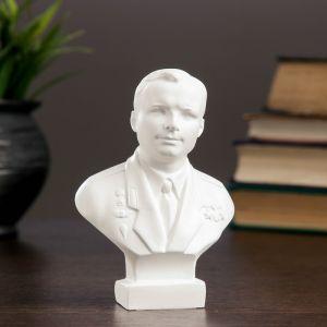 Бюст Гагарин белый, 4х8х11 см 1079117