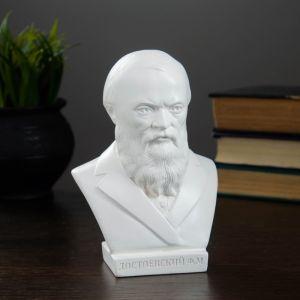 Бюст Достоевский, белый 16см   2738415