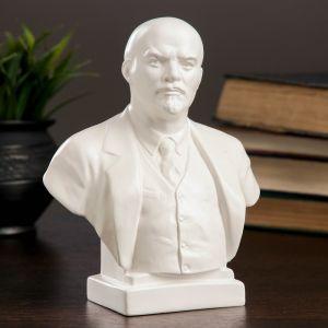 Бюст Ленин большой белый, 8х14х17 см 1079123
