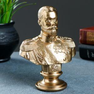 Бюст Николай II бронза 15 см 1079130