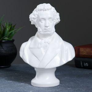Бюст Пушкин большой белый 22 см 1079136