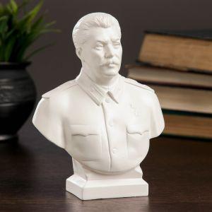 Бюст Сталин большой белый 7х12х16 см 1079140