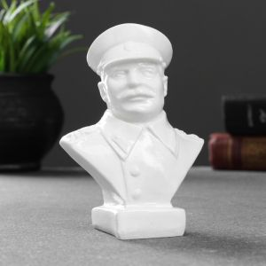 Бюст Сталина, белый 10х7,2х5   4783496