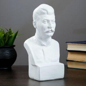 Бюст Сталина, белый 12х24см   4203385