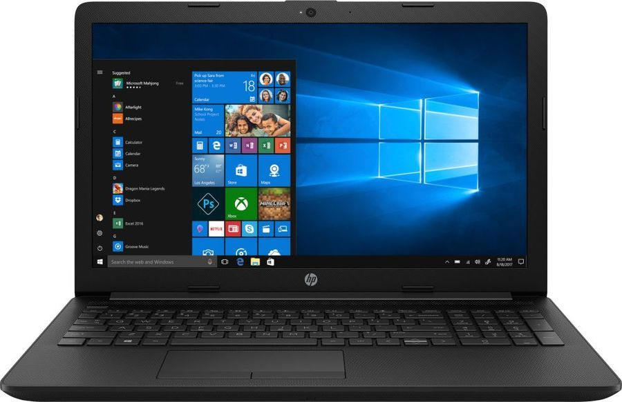 "Ноутбук HP 15-da0406ur Черный  (i3-7020U/4Gb/SSD 128Gb/Intel HD Graphics 620/15,6"" FHD SVA/BT Cam/Win10)"