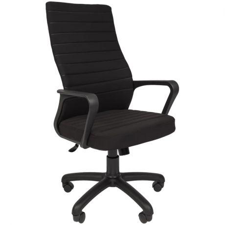 Кресло руководителя Русские кресла 165, экокожа черная, механизм качания