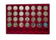 Набор монет 2 гривны УКРАИНА 28 штук в бархатном планшете