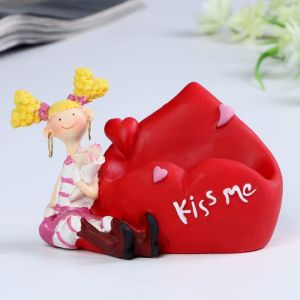 "Подставка под мобильный телефон ""Love/Kiss me"" 11х8х8 см  МИКС   4824297"