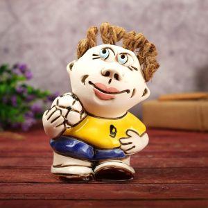 """Статуэтка """"Мальчик с мячом"""", 13 см, микс, ручная работа"""